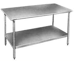 6' Stainless Steel Prep Table