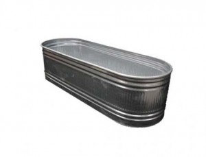 Galvanized Metal Beverage Trough