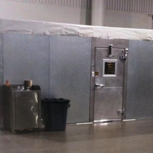 Custom Built On-Site Walk In Cooler