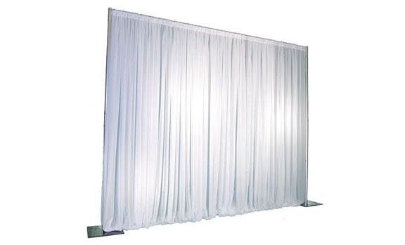 White Pipe And Drape Rental