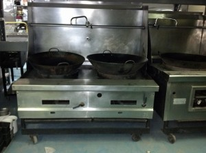 Commercial Dual Hole Wok