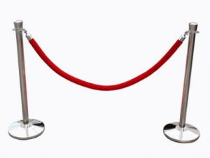 Rope Post Stanchion Rental