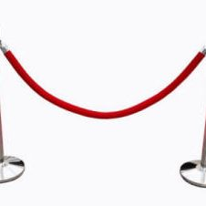 Chrome Silver Rope Post Stanchion Rental